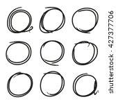 grunge circle marker for... | Shutterstock .eps vector #427377706