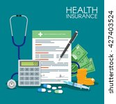health insurance form concept... | Shutterstock . vector #427403524