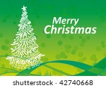 christmas tree on the green... | Shutterstock .eps vector #42740668