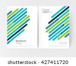 vector set abstract geometric...   Shutterstock .eps vector #427411720