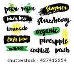 set of summer fresh juice bar... | Shutterstock .eps vector #427412254