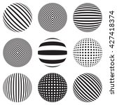 striped ball  sphere | Shutterstock . vector #427418374