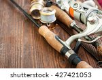 fishing gear   fishing spinning ... | Shutterstock . vector #427421053