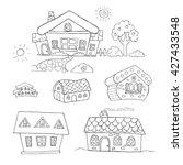 doodle set of outline hand... | Shutterstock .eps vector #427433548