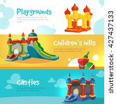 set of web banners with... | Shutterstock .eps vector #427437133