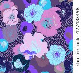 seamless floral  background.... | Shutterstock .eps vector #427438498