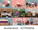sweet set which consists of... | Shutterstock . vector #427450036