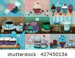 sweet set which consists of... | Shutterstock . vector #427450156