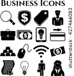 set of 16 business icons.... | Shutterstock .eps vector #427466083