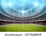 stadium light 3d | Shutterstock . vector #427468849