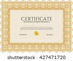 orange sample certificate.... | Shutterstock .eps vector #427471720