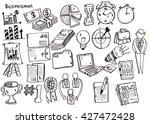 set of business doodle  sketch   Shutterstock .eps vector #427472428