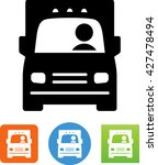 large commercial truck   moving ... | Shutterstock .eps vector #427478494