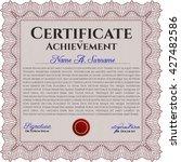 red certificate template.... | Shutterstock .eps vector #427482586