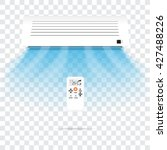 air conditioning vector on... | Shutterstock .eps vector #427488226