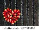 fresh juicy red strawberries... | Shutterstock . vector #427500883