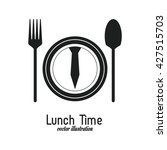 lunch time design. menu icon.... | Shutterstock .eps vector #427515703