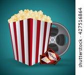 cinema design. movie  icon.... | Shutterstock .eps vector #427516864
