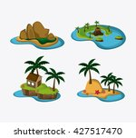 beach design. summer icon.... | Shutterstock .eps vector #427517470