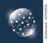 planet design. world icon. flat ... | Shutterstock .eps vector #427519576