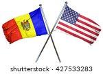 moldova flag with american flag ... | Shutterstock . vector #427533283