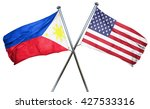 philippines flag with american... | Shutterstock . vector #427533316