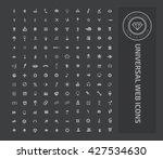 universal website icon set... | Shutterstock .eps vector #427534630