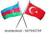 azerbaijan flag  combined with... | Shutterstock . vector #427542739