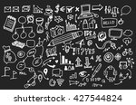 hand drawn business icon set....   Shutterstock .eps vector #427544824