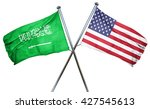 saudi arabia flag with american ... | Shutterstock . vector #427545613