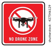 no drone zone sign | Shutterstock .eps vector #427546129