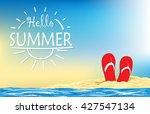summer holiday illustration... | Shutterstock .eps vector #427547134