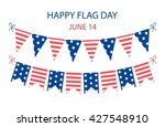 cute usa festive bunting flags... | Shutterstock .eps vector #427548910