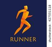 runner vector origami style   Shutterstock .eps vector #427551118