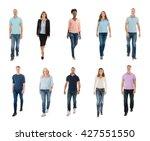 collage of happy creative... | Shutterstock . vector #427551550