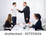 group of businesspeople looking ... | Shutterstock . vector #427553626
