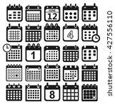 calendar icon set | Shutterstock .eps vector #427556110