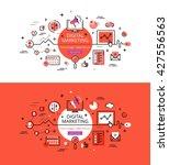 set of modern vector... | Shutterstock .eps vector #427556563