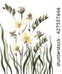 cute floral background.... | Shutterstock . vector #427557646
