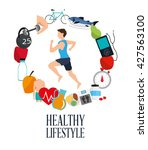 healthy lifestyle design.... | Shutterstock .eps vector #427563100
