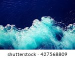 Wave ocean water background.