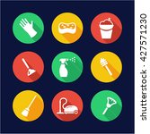cleaning icons flat design... | Shutterstock .eps vector #427571230