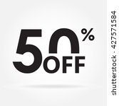 50  off. sale and discount... | Shutterstock . vector #427571584