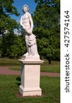 Small photo of Gatchina Palace. Sculpture in the Dutch garden. Allegory - Endeavour.