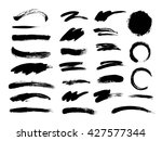 set of hand drawn brushes and... | Shutterstock .eps vector #427577344