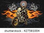 man on the motorbike  | Shutterstock .eps vector #427581004