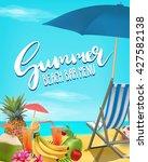 summer beach bar menu vector... | Shutterstock .eps vector #427582138