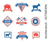american election badges and... | Shutterstock .eps vector #427585396