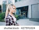 young stylish pretty woman with ... | Shutterstock . vector #427591024