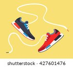 running shoes. sport shoes.... | Shutterstock .eps vector #427601476